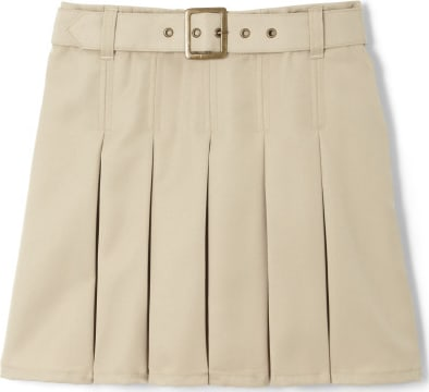 Girls Belted Pleat Scooter