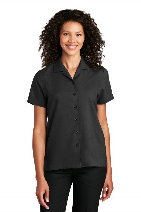 Port Authority Ladies Short Sleeve Performance Staff Shirt Black
