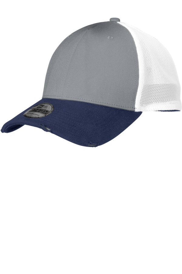 New Era Vintage Mesh Cap Deep Navy/ Grey/ White