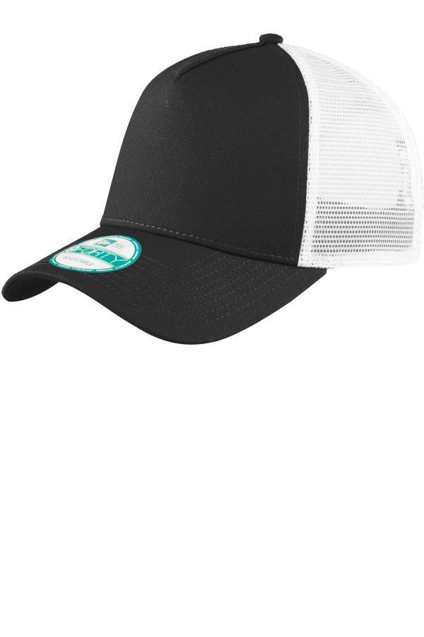 New Era Snapback Trucker Cap Black/White