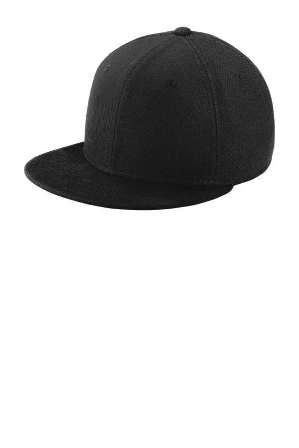 New Era Youth Original Fit Diamond Era Flat Bill Snapback Cap Black