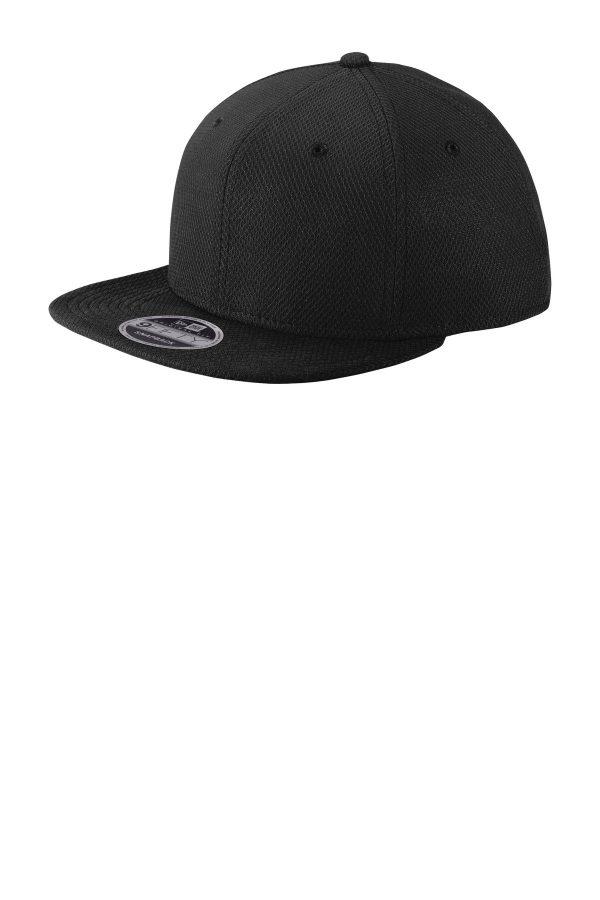 New Era Original Fit Diamond Era Flat Bill Snapback Cap Black