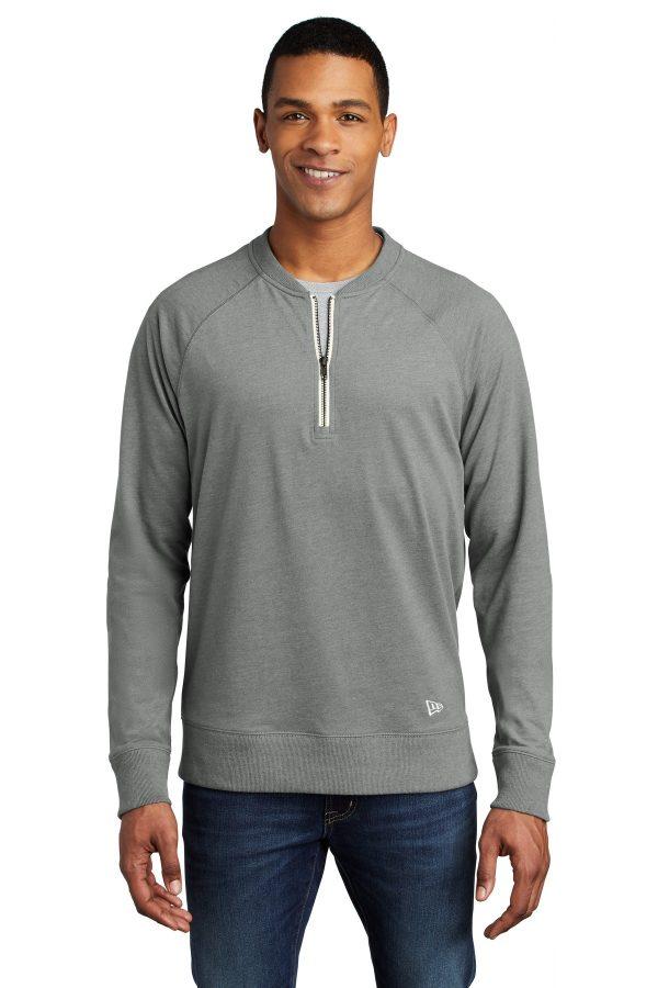New Era Sueded Cotton Blend 1/4-Zip Pullover Shadow Grey Heather